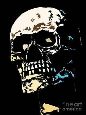 Photograph - Skull Against A Dark Background by Nick  Biemans
