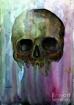Painting - Skull by Akiko Okabe