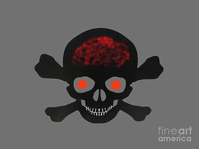 Clouds Rights Managed Images - Skull and Bones Royalty-Free Image by Dale Powell
