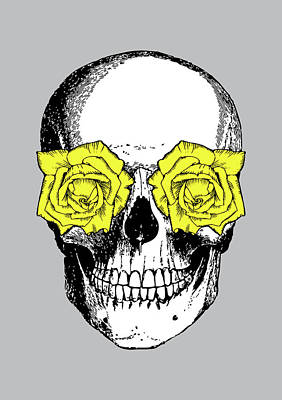 Halloween Digital Art - Skull And Roses by Eclectic at HeART