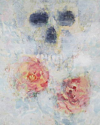 Painting - Skull And Roses by Fabrizio Cassetta