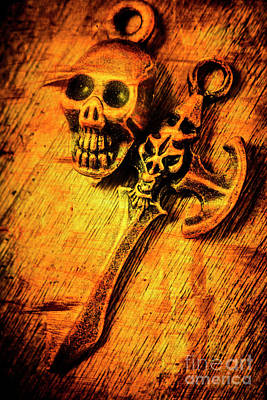 Goth Photograph - Skull And The Sword by Jorgo Photography - Wall Art Gallery