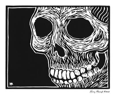 Krauzyk Print - Skull Aware by Henry Krauzyk