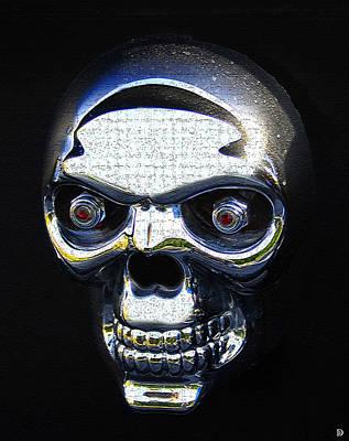 Bot Digital Art - Skull Bot  by David Lee Thompson