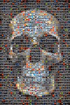 Collage Digital Art - Skull by Boy Sees Hearts