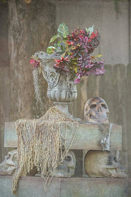 Photograph - Skull Centerpiece by Pamela Williams