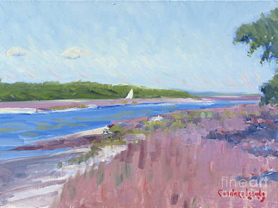 Painting - Skull Creek Marsh From Marina  by Candace Lovely