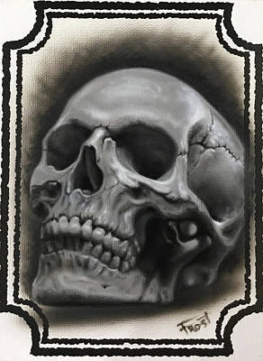 Painting - Skull by Danny Frost
