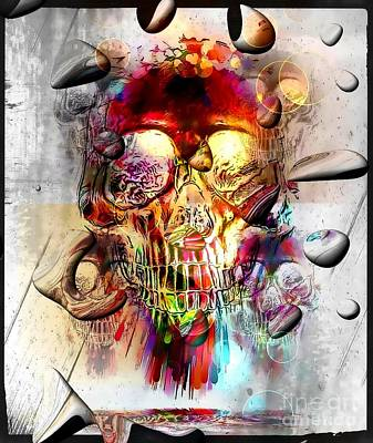 Digital Art - Skull Drops By Nico Bielow by Nico Bielow