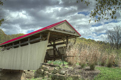 Music Royalty-Free and Rights-Managed Images - Skull Fork Covered Bridge by Jack R Perry