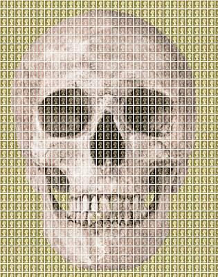 Skull - Gold Original by Gary Hogben