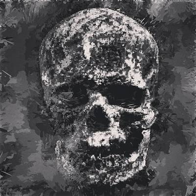 Digital Art - Skull III by Matthew Daigle