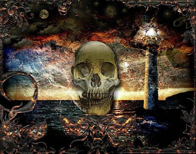 Digital Art - Skull Island by Michael Damiani