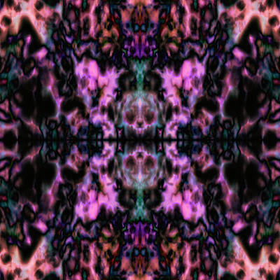 Digital Art - Skull Kaleidoscope 3 by Steve Ball