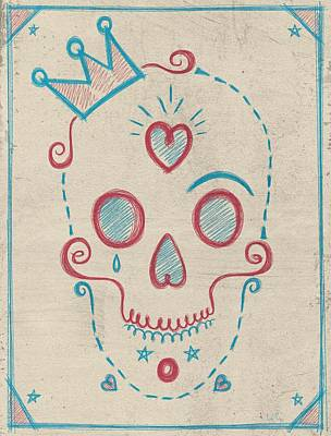 Skull Kids Print by Francisco Valle