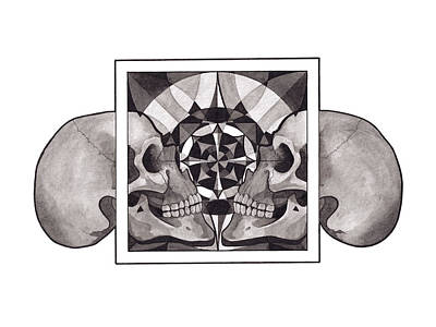 Mixed Media - Skull Mandala Series Nr 1 by Deadcharming Art