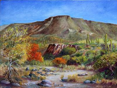 Michael Mcgrath Painting - Skull Mesa From Cave Creek Wash by Michael McGrath