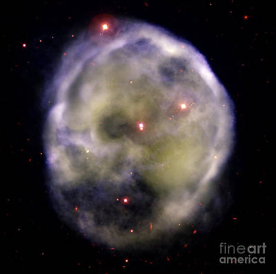 Skull Nebula, Planetary Nebula, Ngc 246 Art Print