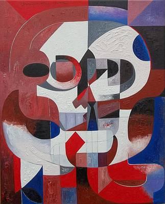 Painting - Skull No. 11 Ululation by Joseph York