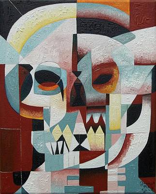Painting - Skull No.1 A Space Oddity by Joseph York