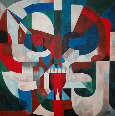 Painting - Skull No.13 Mumbo Jumbo by Joseph York