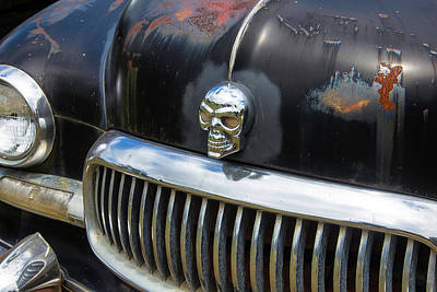 Skull On The Hood Art Print