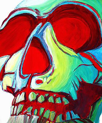 Skull Original Madart Painting Art Print by Megan Duncanson