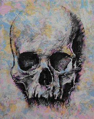 Trippy Painting - Medieval Skull by Michael Creese