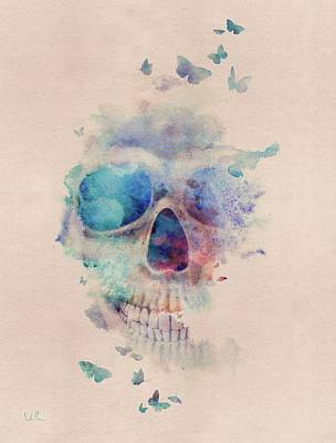 Skull Rainbow Art Print by Francisco Valle