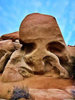 Skull Rock Art Print