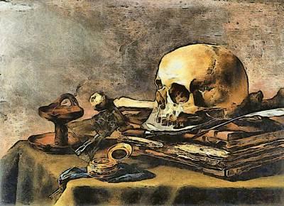 Photograph - Skull Still Life by Pieter Claesz
