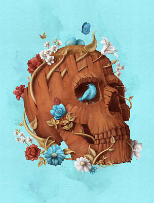 Calavera Painting - Skull Tree by Francisco Valle