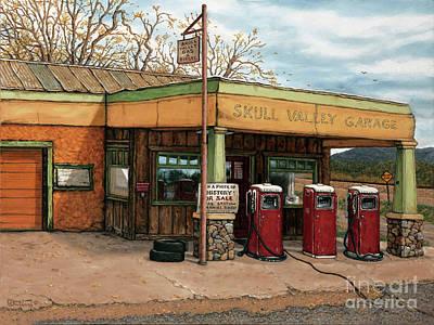 Painting - Skull Valley Garage - Arizone by Janet Kruskamp