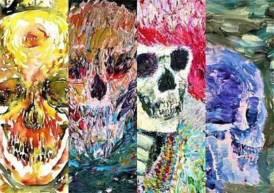 Painting - Skull Variations by Fabrizio Cassetta