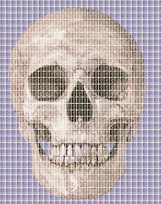 All You Need Is Love - Skull - Violet by Gary Hogben