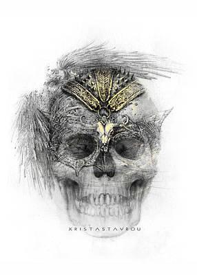 Digital Art - Skull Warrior by Xrista Stavrou