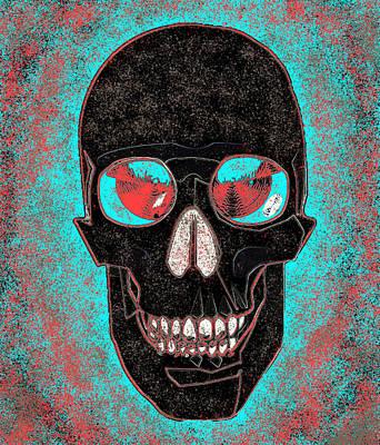 Digital Art - Skull With Splashes by Joy McKenzie