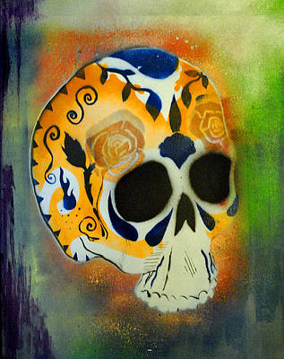 Painting - Skull1 by Josean Rivera