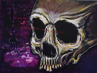 Outer Space Painting - Skullfork 10 by David Buschemeyer