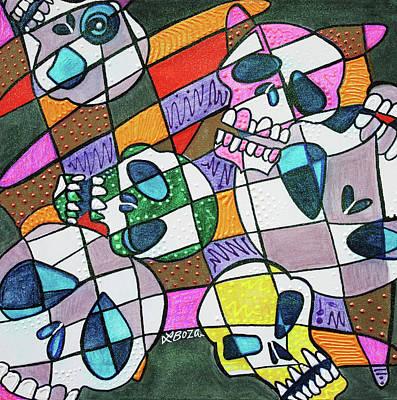 Skullopoly Art Print by Laura Barbosa
