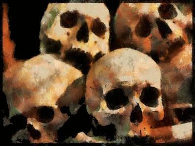 Digital Art - Skulls by Charmaine Zoe