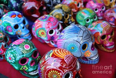 Dia De Los Muertos Photograph - Skulls Day Of The Dead  by Chuck Kuhn