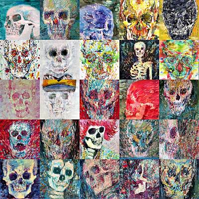 Painting - Skulls Galore by Fabrizio Cassetta