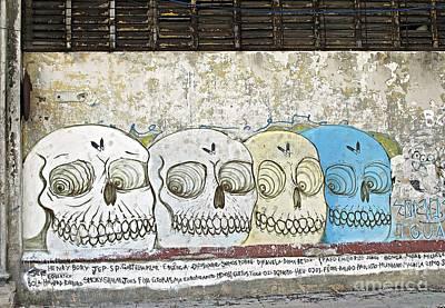 Photograph - Skulls Mural by Ethna Gillespie