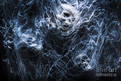 Creepy Photograph - Skulls Tangled In Fear by Jorgo Photography - Wall Art Gallery