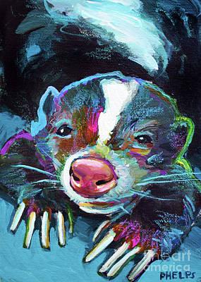 Painting - Skunk by Robert Phelps