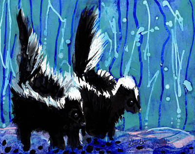 Painting - Skunks by Kimbo Jackson