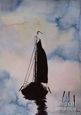 Painting - Skutsje by Annemeet Hasidi- van der Leij