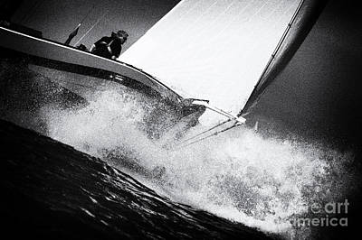 Photograph - Skutsje In Strong Winds by Jan Brons