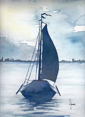 Painting - Skutsje No.2 by Annemeet Hasidi- van der Leij